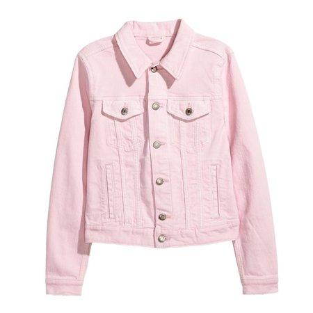 H&M Jackets & Coats | Nwt Hm Light Pink Denim Jean Jacket | Poshmark