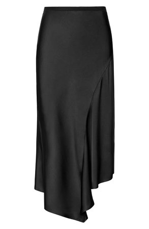ANINE BING Bailey Asymmetrical Silk Skirt   Nordstrom