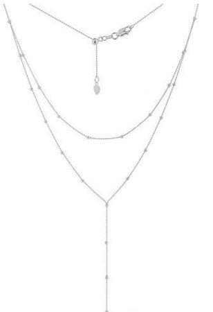 silver multi chain necklace