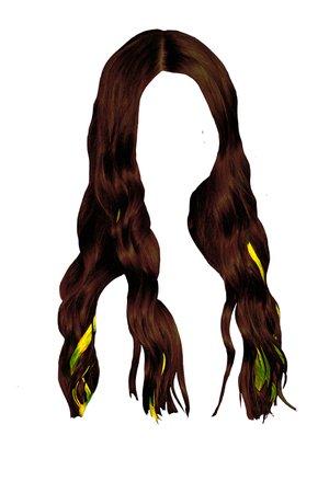 black hair with yellow streaks