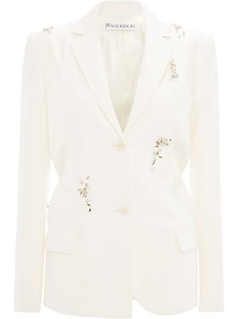 Jw Anderson Patchwork Tailored Blazer With Crystal Embroidery Ss20 | Farfetch.com