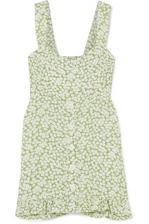 Faithfull The Brand | Lou Lou ruffled floral-print crepe mini dress | NET-A-PORTER.COM