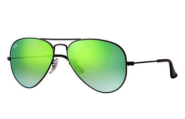 Ray-Ban Aviator Flash Lenses Gradient RB3025 Black - Metal - Green Lenses - 0RB3025002/4J58 | Ray-Ban® HongKong