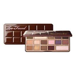 Too Faced CHOCOLATE BAR Палетка теней с натуральной пудрой какао цена от 1775 руб купить в интернет магазине теней для век ИЛЬ ДЕ БОТЭ, make-up 41013