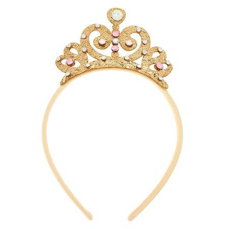 Claire's Club Tiara Headband - Gold