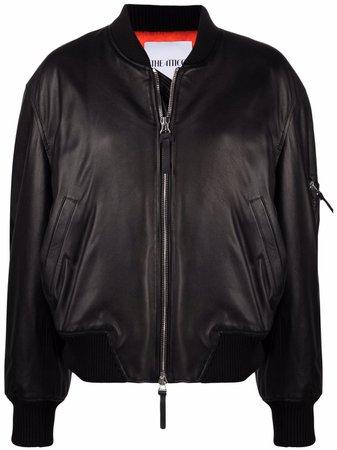 The Attico Leather Bomber Jacket - Farfetch