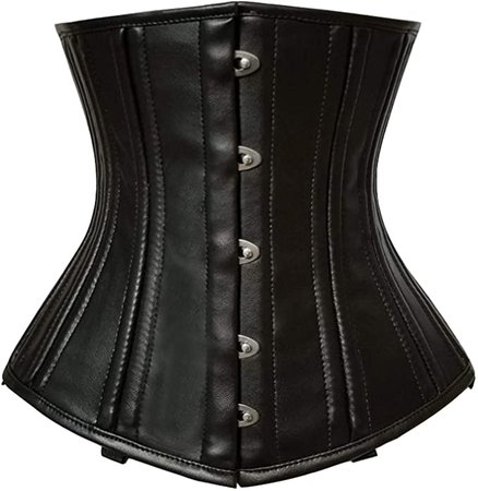 *clipped by @luci-her* luvsecretlingerie Heavy Duty 18/26 Double Steel Boned Waist Training Satin Underbust Tight Shaper Corset #979 at Amazon Women's Clothing store