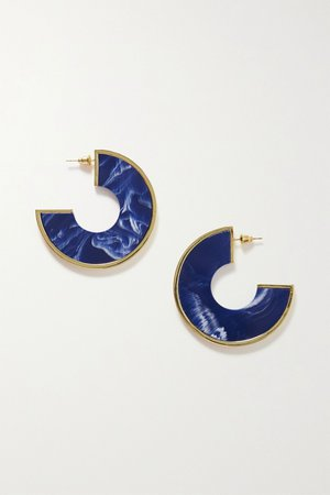 Gold Aria gold-tone resin earrings | Cult Gaia | NET-A-PORTER