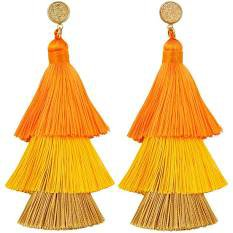 tan and yellow fringe earrings - Google Search