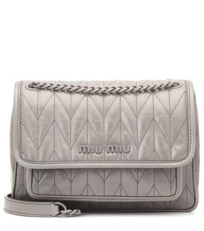Quilted Leather Shoulder Bag - Miu Miu | Mytheresa