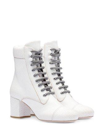 Miu Miu Contrasting Shoe Laces Boots