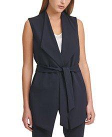 DKNY Sleeveless Lapel Vest & Reviews - Jackets & Blazers - Women - Macy's