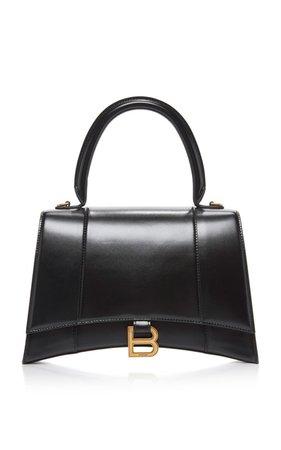 Medium Hourglass Calfskin-Leather Handbag by Balenciaga | Moda Operandi