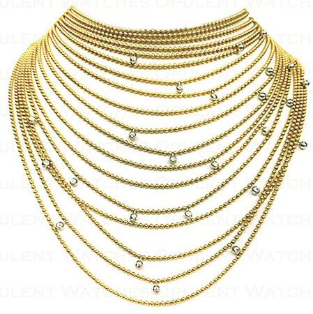 Cartier Draperie de Decollete Diamond Yellow Gold Necklace