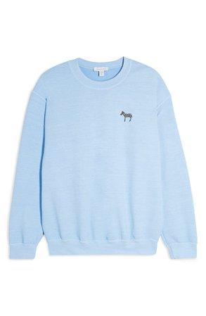 Topshop Zebra Emoji Sweatshirt | Nordstrom