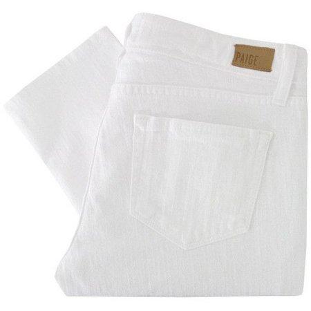 white jeans folded