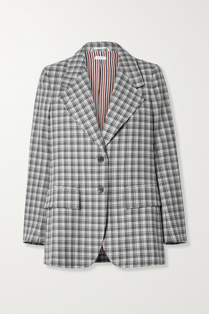 Thom Browne | Checked wool blazer | NET-A-PORTER.COM