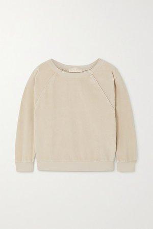 Cotton-blend Velour Sweatshirt - Off-white