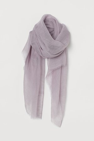 Linen Scarf - Light purple - Ladies | H&M US