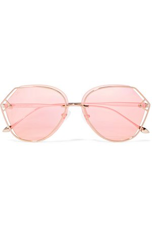 For Art's Sake | Virgo round-frame gold-tone sunglasses | NET-A-PORTER.COM