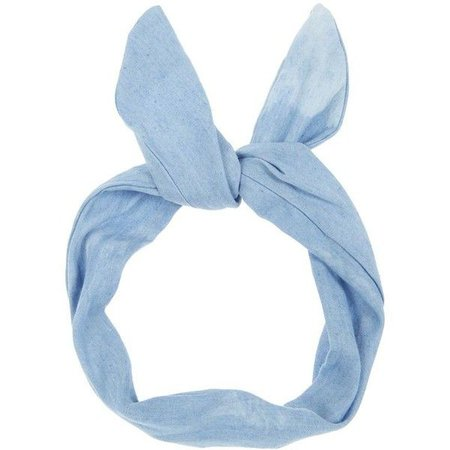 Light Blue Bow Headband