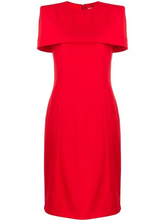 Shop red Givenchy cape fitted dress with Express Delivery - Farfetch