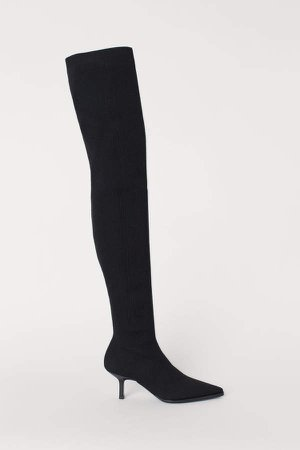 Thigh-high Boots - Black