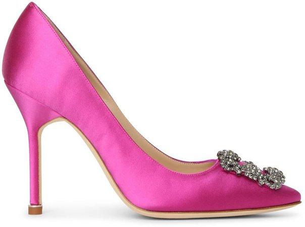 Hangisi 105 pink satin pumps