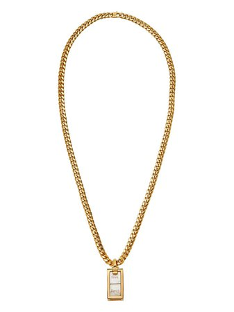Shop Fendi cube-shaped pendant necklace with Express Delivery - FARFETCH