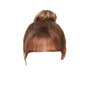 Brown Hair Bun Bangs PNG