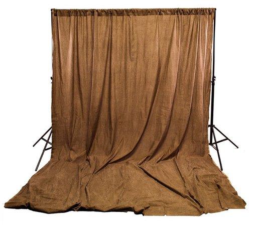 brown backdrop photo shoot