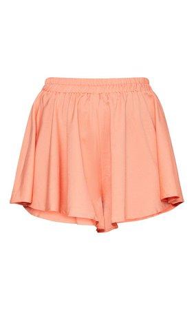 Peach Floaty Shorts   Shorts   PrettyLittleThing USA
