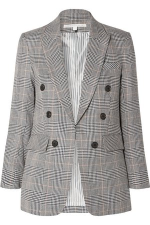 Veronica Beard | Bexley Dickey Blazer aus einer Leinen-Baumwollmischung mit Glencheck-Muster | NET-A-PORTER.COM