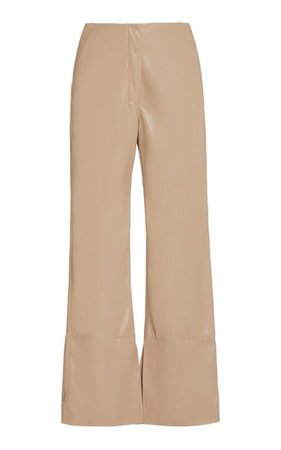 Rhyan Vegan Leather Straight-Leg Pants By Nanushka | Moda Operandi