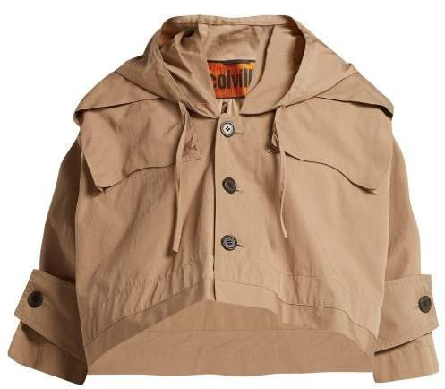 Colville - Hooded Cotton Cropped Parka - Womens