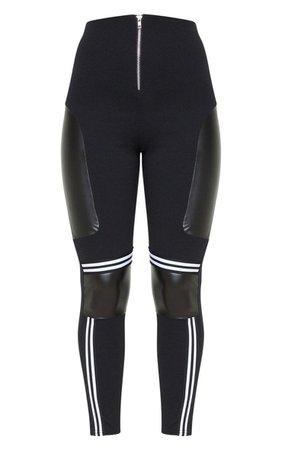 Black Motorcross Panelled Trousers | PrettyLittleThing