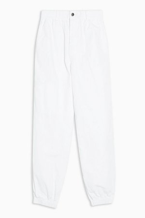 White Cuffed Utility Trousers | Topshop