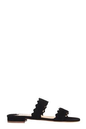 Fabio Rusconi Flats In Black Suede