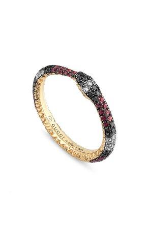 Gucci Ouroboros Diamond & Stone Pavé Snake Ring | Nordstrom