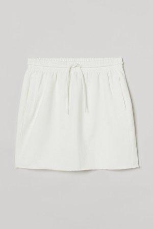 Short Sweatshirt Skirt - White