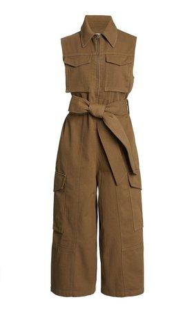 Belted Cropped Wool Jumpsuit by AMI | Moda Operandi