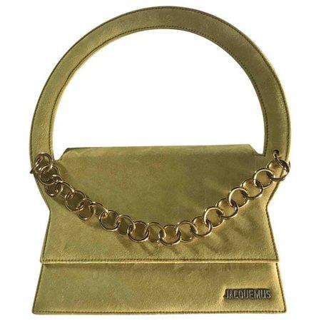 Le rond handbag Jacquemus Green in Suede - 6324812
