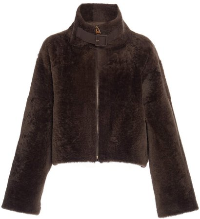 Agnona Shearling Biker Jacket
