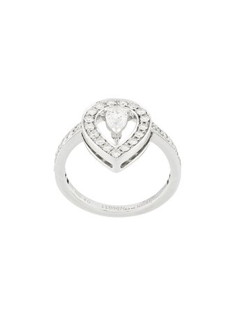 Silver Boucheron 18Kt White Gold Solitaire Diamond Ring | Farfetch.com