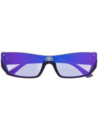 Balenciaga Eyewear Shield rectangular-frame sunglasses - FARFETCH