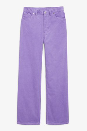 Yoko corduroy trousers - Purple - Trousers & shorts - Monki WW