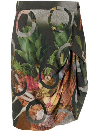 Vivienne Westwood Fruit Print Draped Skirt - Farfetch