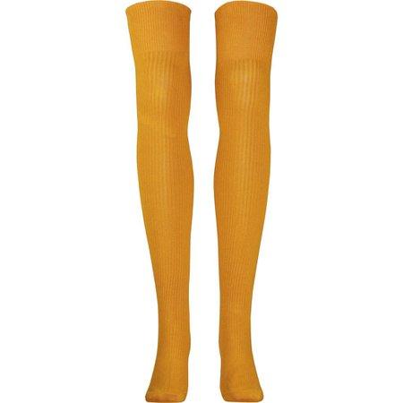 Ribbed Over The Knee Socks in Ochre - Poppysocks