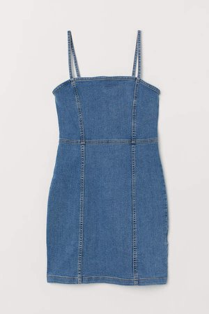 Twill Dress - Blue