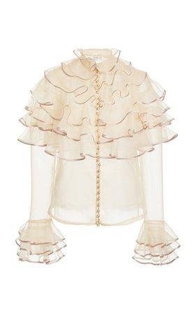 Lucky Tiered Silk Blouse By Zimmermann   Moda Operandi